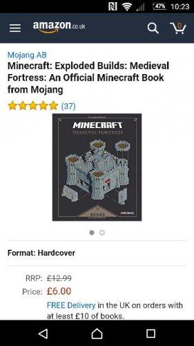 minecraft medieval fortress book £6 prime / £7.99 non prime @ Amazon