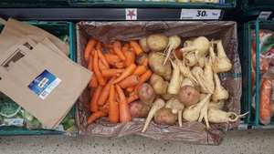 tesco instore ** fill a bag with wonky/scary veg perfect for stews etc for only 30p! !!