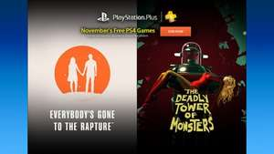 PS Plus Line Up November (Everybody's Gone to the Rapture, The Deadly Tower of Monsters, Dirt 3, Costume Quest 2, Letter Quest Remastered, Pumped BMX+)