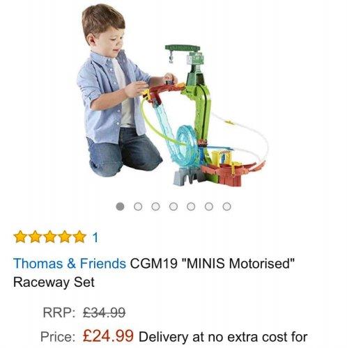 Thomas minis motorised raceway set £24.99 @ Amazon