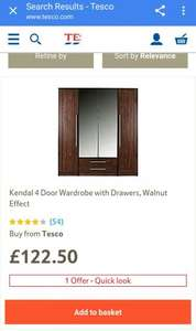 Tesco (Kendal) 4 door wardrobe £122.50