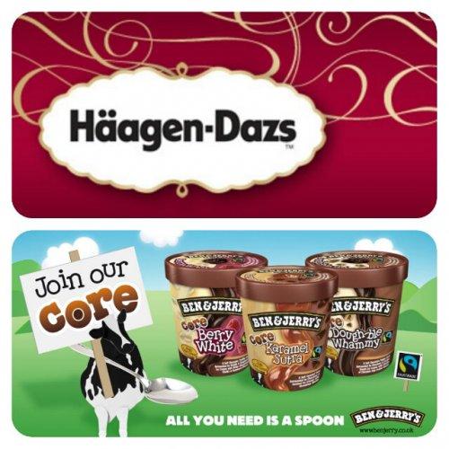 Häagen-Dazs Ice Cream (500ml) and Ben & Jerry's Core Ice Cream (500ml) - Only £2 @ Asda...