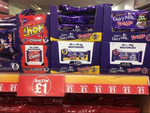 Freddo 2 packs x5 £1.00 (10p) each, caramel and milk chocolate available. SPAR Post Office