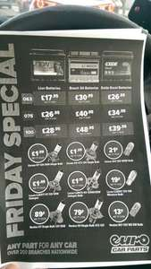 Euro Car Parts sale tomorrow (Friday) one day only