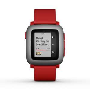 Pebble Time Smartwatch in Red - £75.12 delivered on Amazon