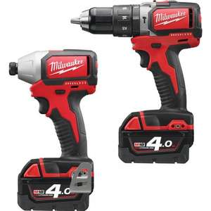 MILWAUKEE M18BLPP2B-402C 18V LI-ION CORDLESS BRUSHLESS COMPACT TWIN  PACK 2 X 4.0AH at Toolstation for £259.87
