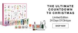 24 days of Clinique advent calendar + free foundation sample + moisture surge sample + all about eyes sample + free colour on the run kit (worth £15) all for £65 delivered @Cinique