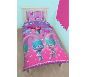 Trolls single duvet set - £10.49 at Argos