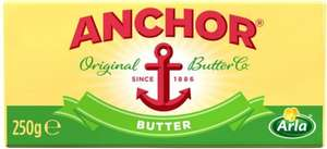 Anchor Block Butter - Salted (250g) was £1.50 now £1.00 @ Tesco