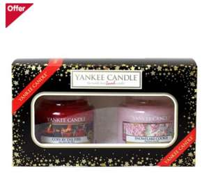 YANKEE CANDLE CHRISTMAS GIFT SET (2 SMALL JARS) ONLY £9.99 @ Boots