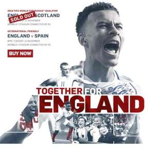 £20 tickets to see England vs Spain via FA Ticketing