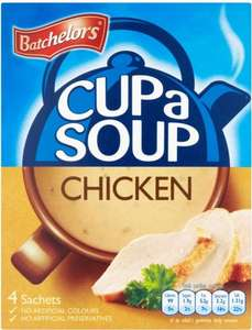 Batchelors Cup a Soup (15 Varieties as stocked) ONLY 50p @ Asda