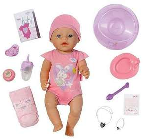 Baby Born Interactive Doll £22.00 and 3 for 2 INSTORE only @ Tesco
