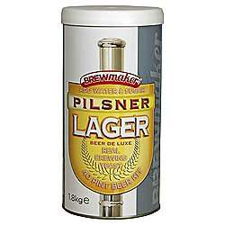 Brewmaker beer kits 1.8kg x 6 for £15 @ Tesco Direct