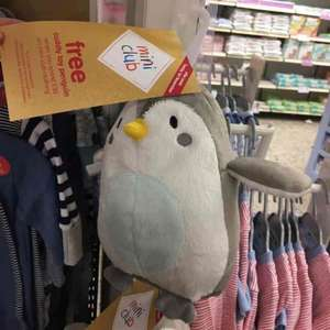 free cuddle toy penguin @ boots when you spend £30 on mini club clothing