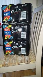 Asda free one day now tv sports pass with each 12 pack of carling. 3 packs of 12 for £20.