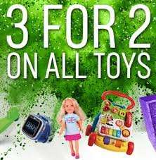 Argos 3 for 2 on toys confirmed for 4th - 7th November!