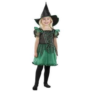 Halloween Green/Pink Witch Fancy Dress Costume  1-4 Years £3 @George. Free C&C at any Asda
