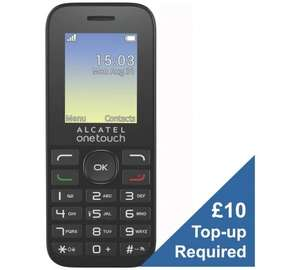 EE Alcatel 10.16 Mobile Phone £1.99 (£10 top up) @ Argos instore