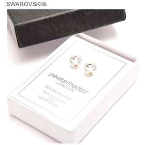 925 Silver stud earrings handmade with sparkling crystal from SWAROVSKI now £7.99 prime / £11.98 non prime Sold by pewterhooter and Fulfilled by Amazon