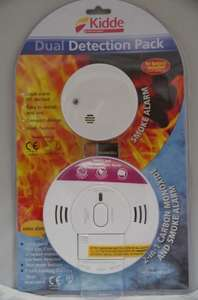 KIDDE 10SCO COMBINATION SMOKE & CARBON MONOXIDE ALARM DETECTOR VOICE BATTERY INC COMES WITH FREE I9040 SMOKE ALARM WORTH £6.99 - £16.38  gasappliancesparespreston / Ebay