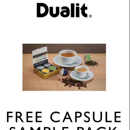 Free Dualit Nespresso Capsule Sample Pack