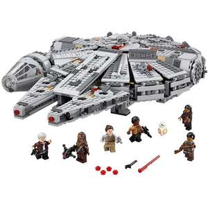 UPDATED LEGO Star Wars Millennium Falcon £89.99 including free LEGO Star Wars General and Geoffrey: spend £10.01 more to get £20 off £100 and £15 gift card also @ Toys r us