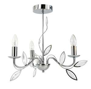 Eve Three-Leaf Ceiling Light In Chrome £12.99 + £3.95 Delivery @ Littewoods-Clearance / Ebay