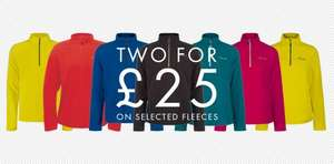Fleeces 2 for £25 @ Dare2b.com