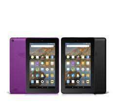 "Amazon Fire Set of 2 WiFi 8GB 7"" Tablets with Case and 32GB MicroSD Card £99.96 / £106.91 delivered QVC and 4 easy payments of £24.99"