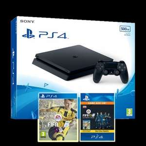 PS4 Slim 500GB Black Console + Fifa 17 + 750 FIFA 17 Points Pack + Free Game £229.85 Delivered @ Shopto