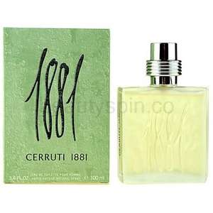 CERRUTI 1881 100ml.Classic eau de toilette for Men.15.50+3.99 delivery. £19.49 Delivered @ Beautyspin