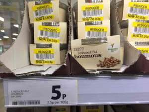 Tesco Houmous - Reduced fat reduced to clear 3p