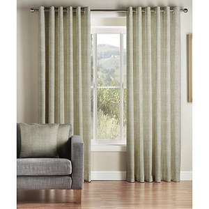 Lined Eyelet Curtains for only 0.72p @ Debenhams