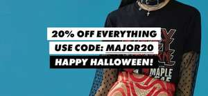 20% off everthing including outlet, GHD gold £103.20, MK watch was £229 now £115.20, beauty advent calendar was £50 now £40, Carvela bag was £85 now £40 today 31/10 only using code MAJOR20 @ Asos
