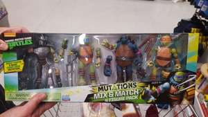 Teenage mutant ninja turtles mutations mix and match 4 pack - was £40 now £12 @ Sainsbury's