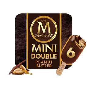 Magnum Mini Double Peanut Butter Ice Cream 6 x 60ml £1 @ Iceland
