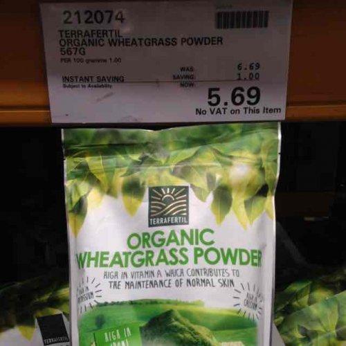Organic Wheatgrass Powder 567g £5.69 at Costco