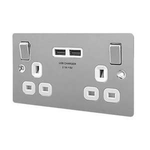 2 gang switched USB socket £10.49 @ Screwfix (free C&C)
