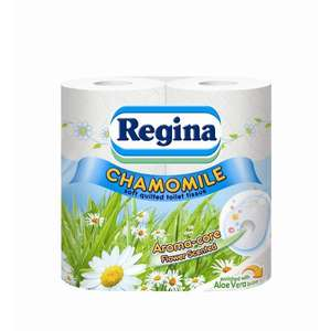 Regina Daisy Quilted 3 - ply toilet Roll x 4 was £2.25 now £1 @ Wilko