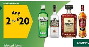 Selected Spirits 70cl Two for £20 (£14.28L) MORRISONS 'Till Nov 20th