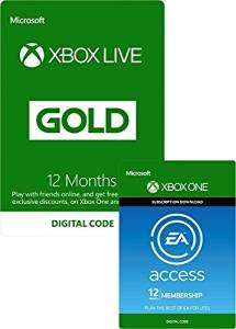 EA Access and Xbox Live Gold Membership 12 Months £54.99 Amazon