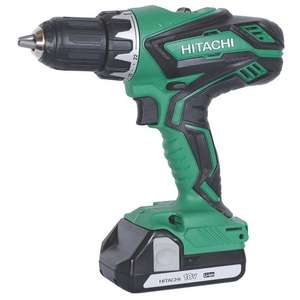 Hitachi DV18DGL/JG 18V Cordless Combi Drill with 2 x 2.5AH Batteries + Free Multi-Purpose Screws Pack £89.99  Screwfix