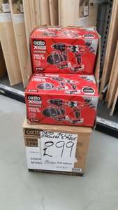 Ozito Power X Change 18V 2 Piece Drill Kit £99 Homebase