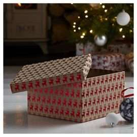 Large Kraft Reindeer Box Perfect for Christmas Eve Boxes only £3 and on 3 for 2 @ Tesco Direct