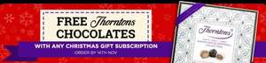 Free Thorntons chocolates worth £7 when you buy a Christmas gift magazine subscription from £12 @ Magazine.co.uk