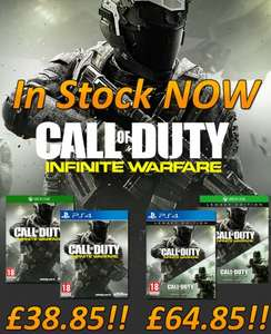 Call of Duty Infinite Warfare £38.85 ps4  and xbox one at simply games