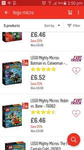 Lego mighty micros 2 for £10 @ argos