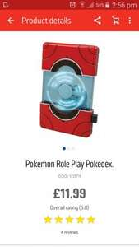 Pokemon pokedex in the 2 for £15 @ argos