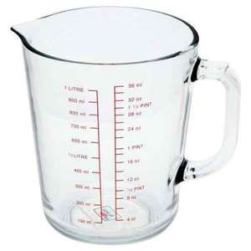 Measuring Jug Glass 1L Half price! now £1.50 @ wilko